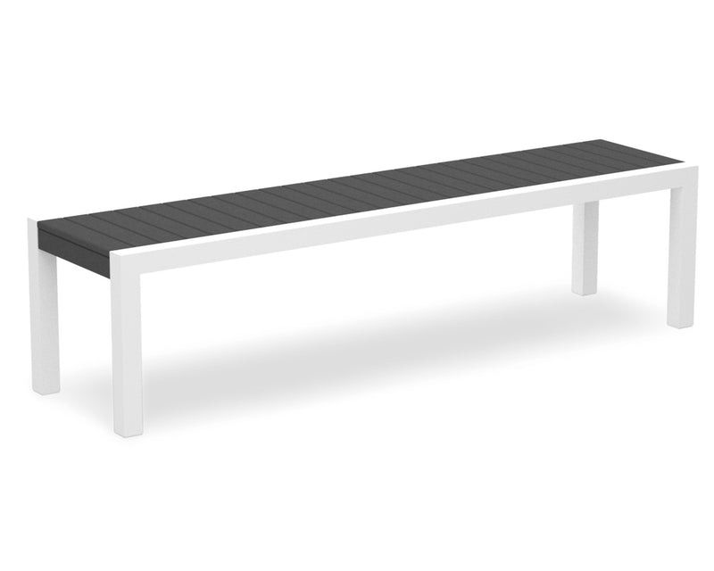 3800-13GY MOD Bench in Satin White & Slate Grey