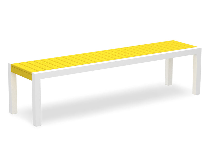 3800-13LE MOD Bench in Satin White & Lemon