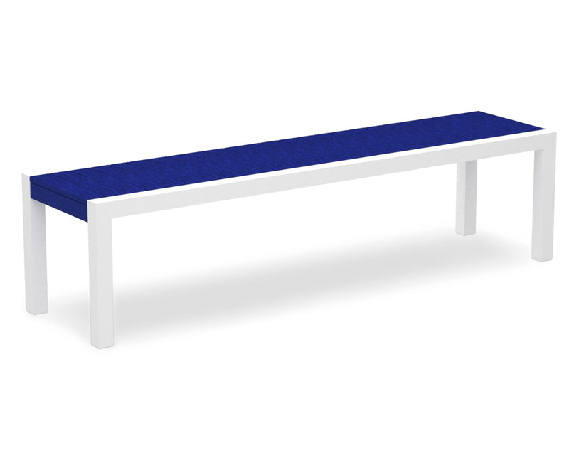 3800-13PB MOD Bench in Satin White & Pacific Blue
