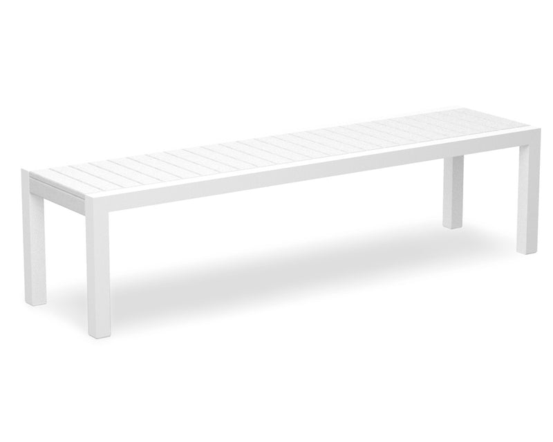 3800-13WH MOD Bench in Satin White & White