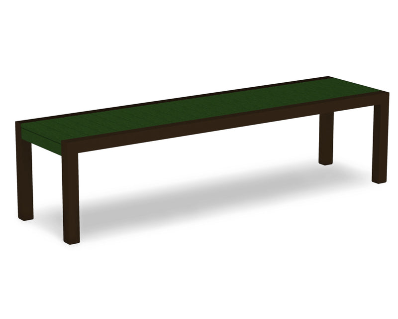 3800-16GR MOD Bench in Textured Bronze & Green
