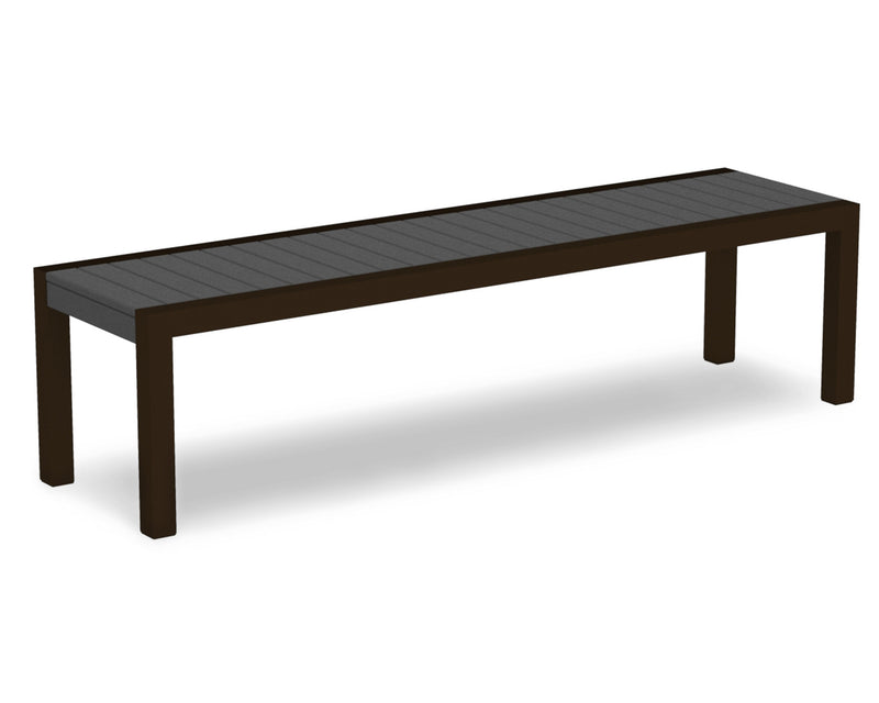 3800-16GY MOD Bench in Textured Bronze & Slate Grey