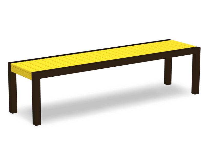 3800-16LE MOD Bench in Textured Bronze & Lemon