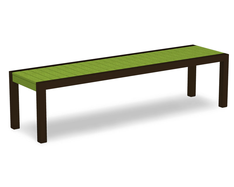 3800-16LI MOD Bench in Textured Bronze & Lime