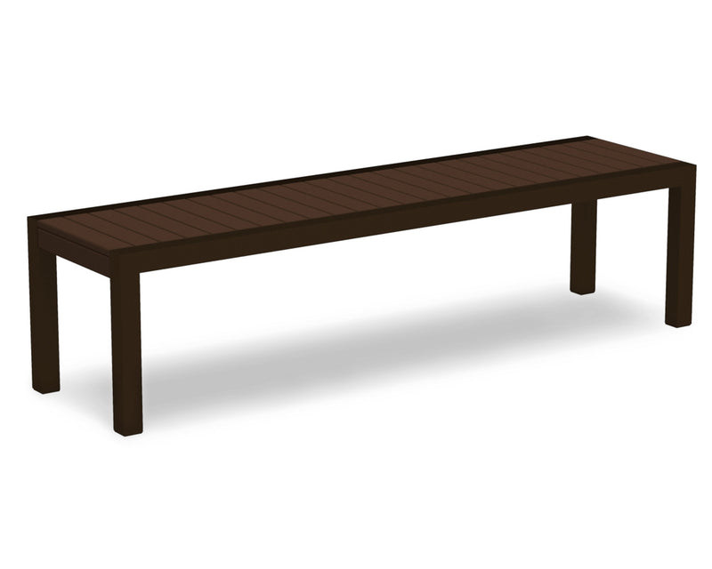 3800-16MA MOD Bench in Textured Bronze & Mahogany