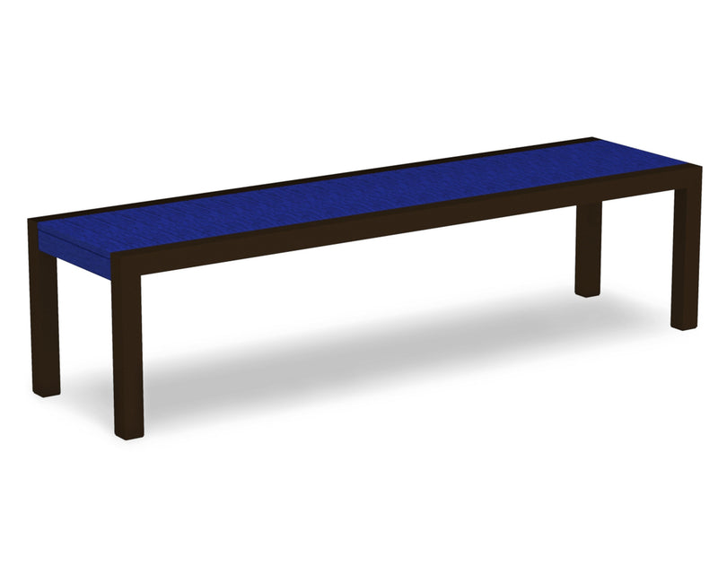 3800-16PB MOD Bench in Textured Bronze & Pacific Blue