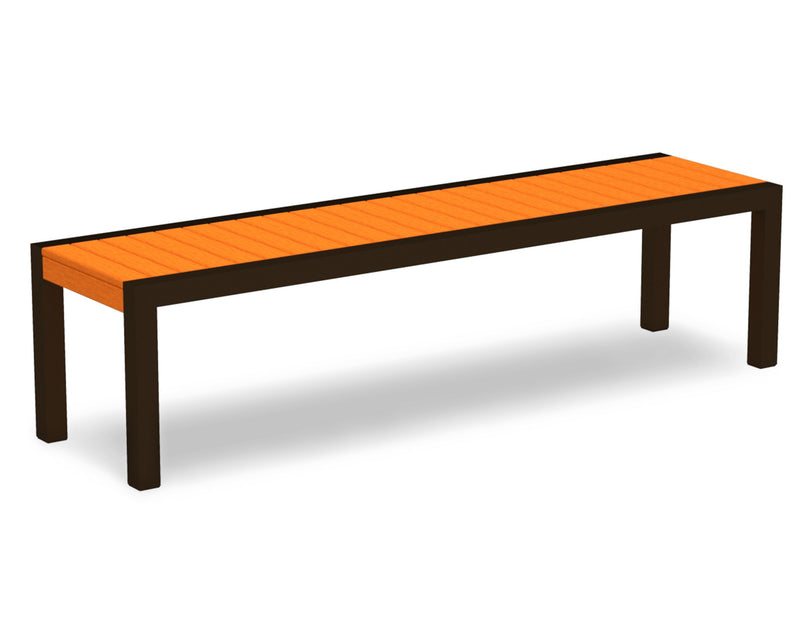 3800-16TA MOD Bench in Textured Bronze & Tangerine