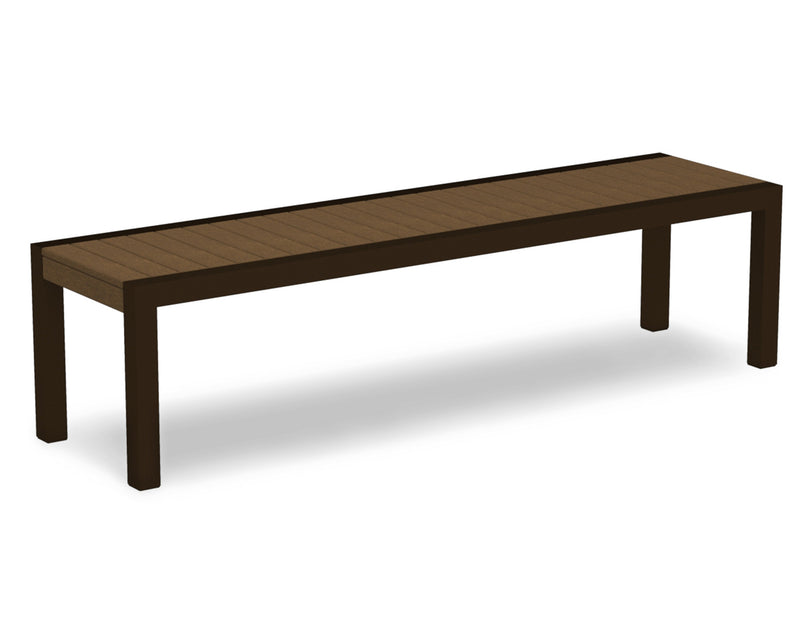 3800-16TE MOD Bench in Textured Bronze & Teak