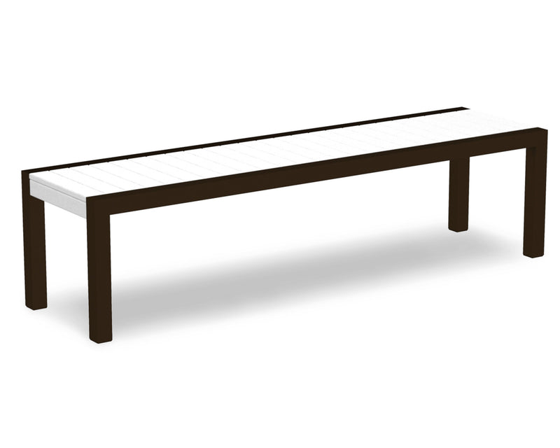 3800-16WH MOD Bench in Textured Bronze & White