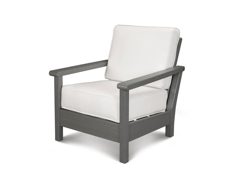 4011-GY5404 Harbour Deep Seating Chair in Slate Grey & Natural