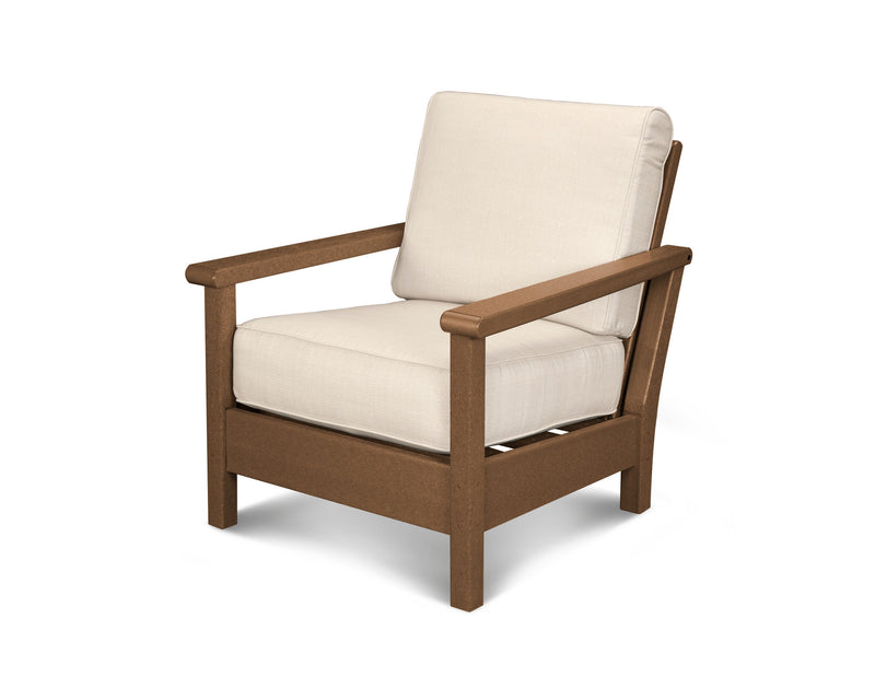 4011-TE8322 Harbour Deep Seating Chair in Teak & Antique Beige