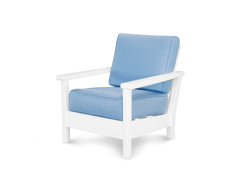 4011-WH5410 Harbour Deep Seating Chair in White & Air Blue