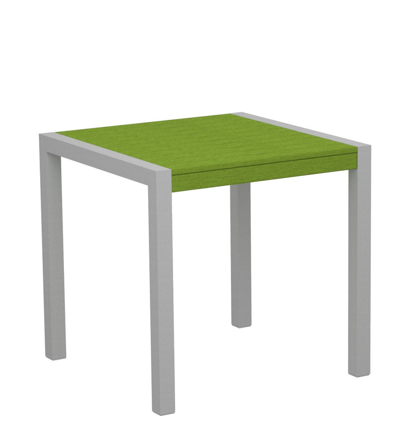 "8000-11LI MOD 30"" Dining Table Textured Silver in Lime"