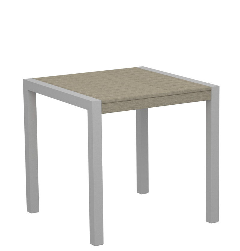 "8000-11SA MOD 30"" Dining Table Textured Silver in Sand"