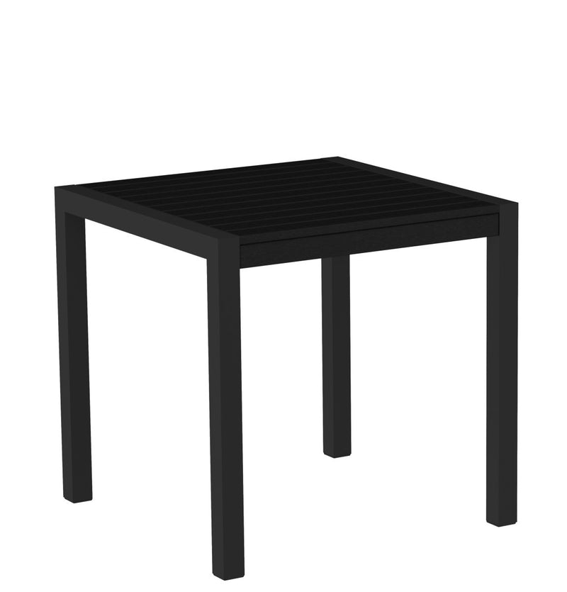 "8000-12BL MOD 30"" Dining Table Textured Black in Black"