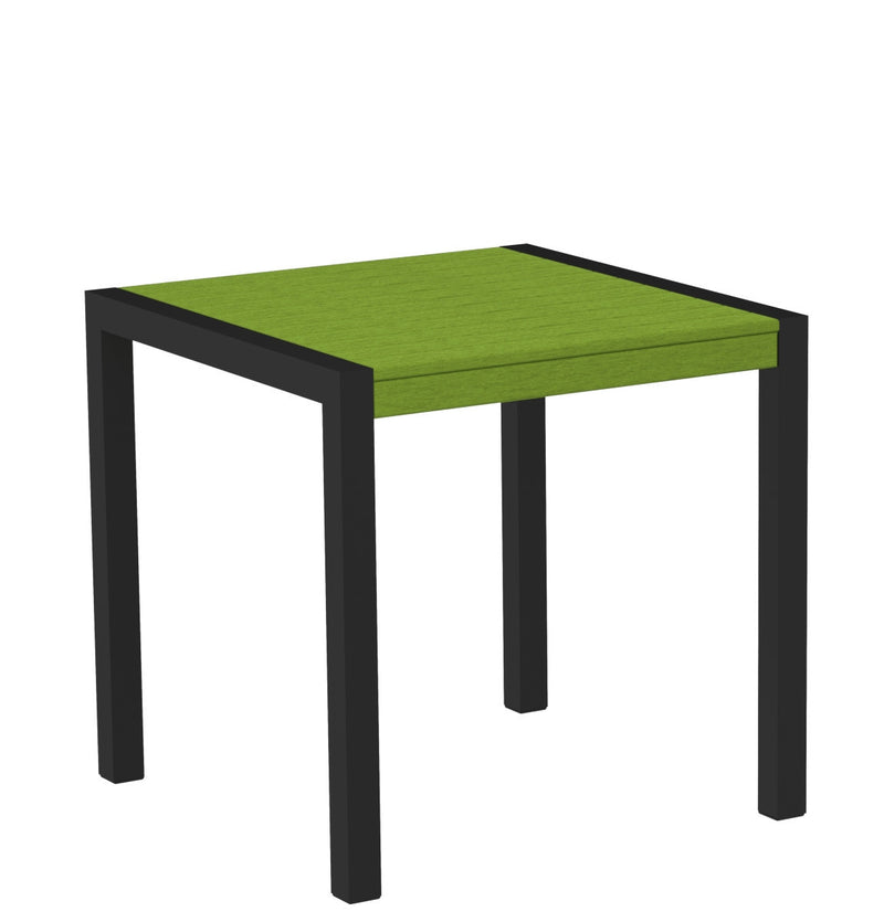 "8000-12LI MOD 30"" Dining Table Textured Black in Lime"