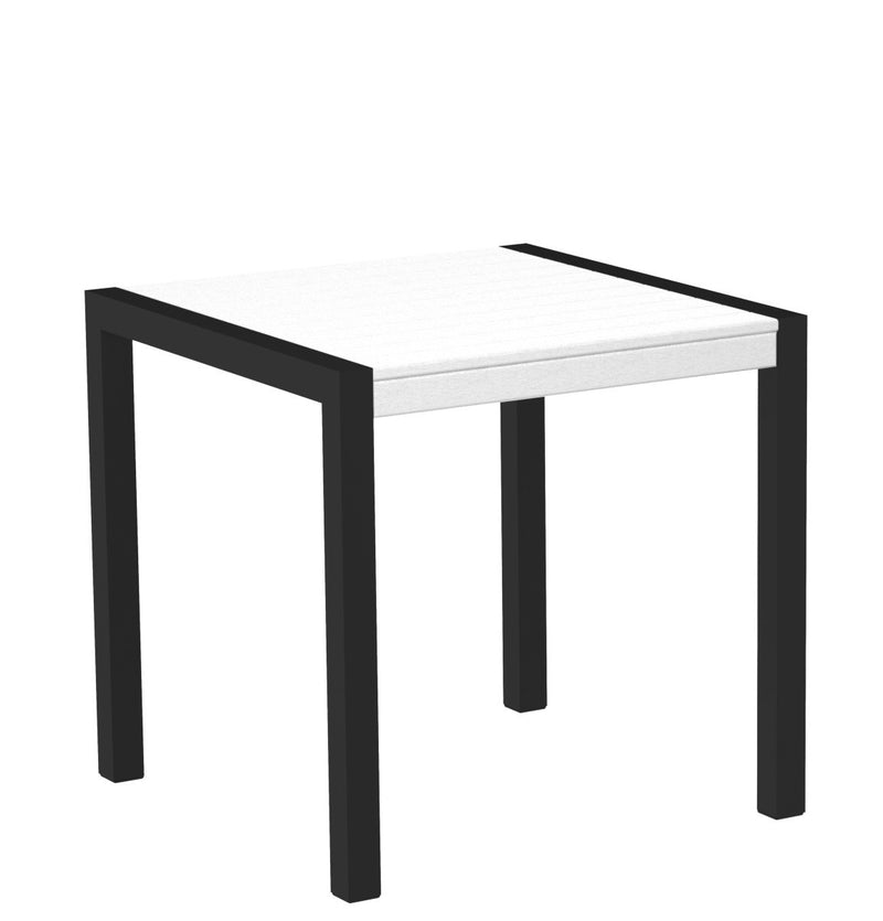 "8000-12WH MOD 30"" Dining Table Textured Black in White"