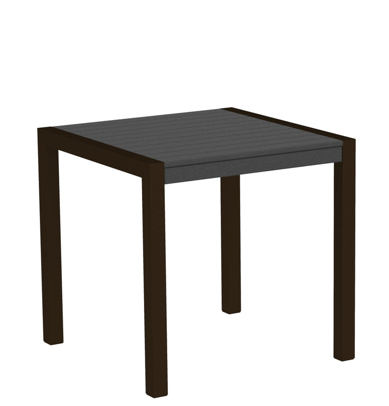 "8000-16GY MOD 30"" Dining Table Textured Bronze in Slate Grey"