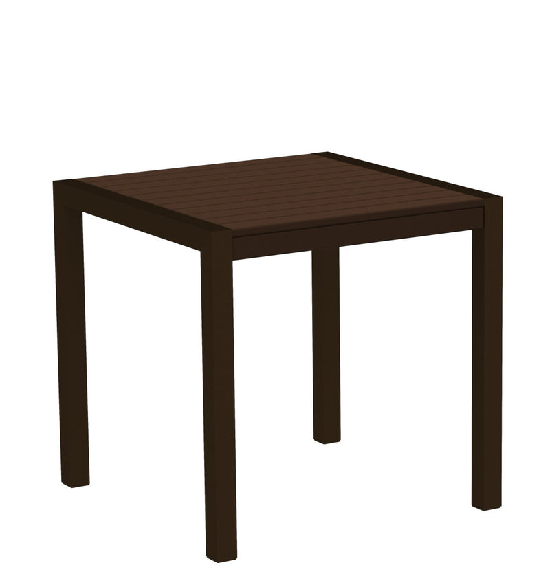 "8000-16MA MOD 30"" Dining Table Textured Bronze in Mahogany"