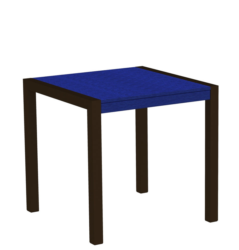 "8000-16PB MOD 30"" Dining Table Textured Bronze in Pacific Blue"