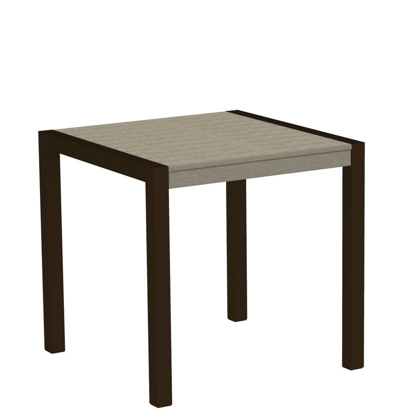 "8000-16SA MOD 30"" Dining Table Textured Bronze in Sand"