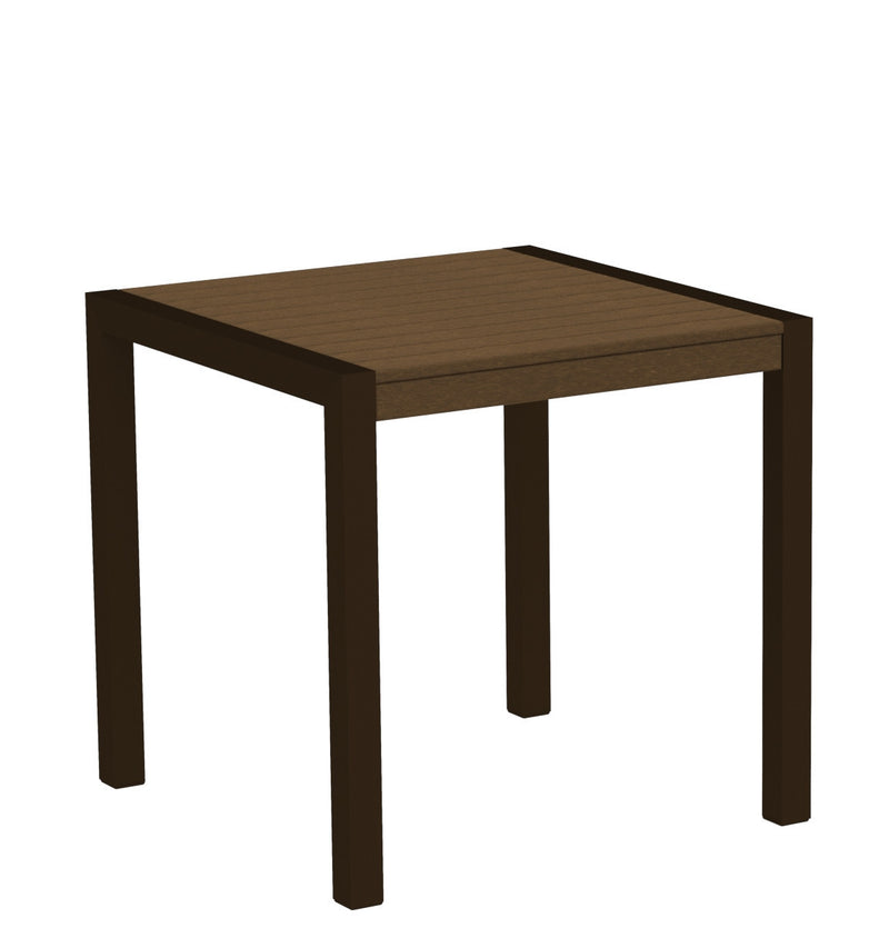 "8000-16TE MOD 30"" Dining Table Textured Bronze in Teak"