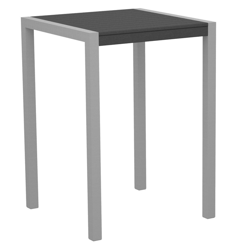 "8002-11GY MOD 30"" Bar Table in Textured Silver & Slate Grey"