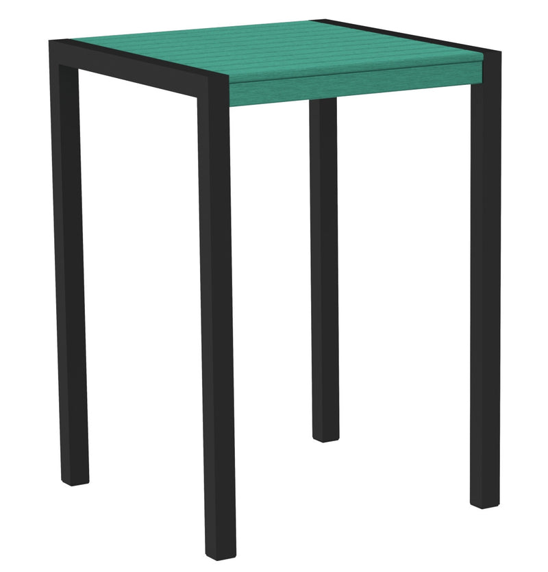 "8002-12AR MOD 30"" Bar Table in Textured Black & Aruba"