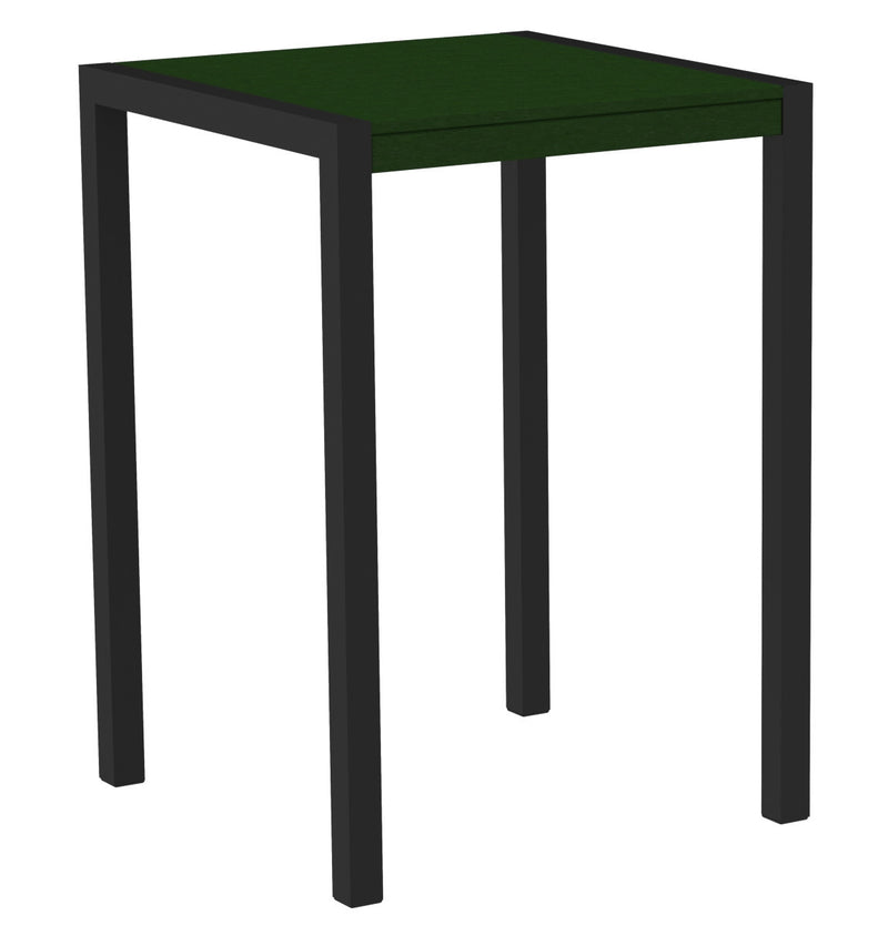 "8002-12GR MOD 30"" Bar Table in Textured Black & Green"