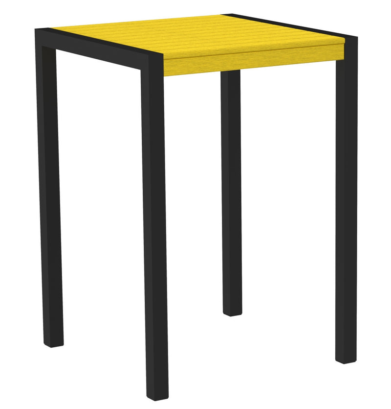 "8002-12LE MOD 30"" Bar Table in Textured Black & Lemon"
