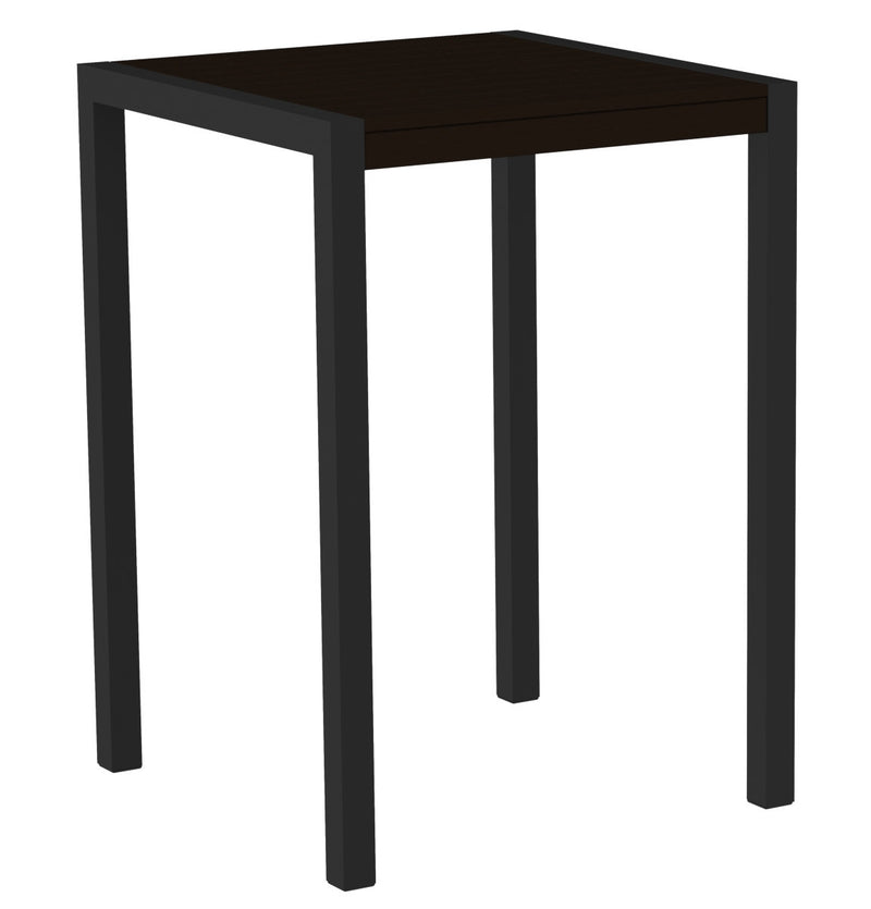 "8002-12MA MOD 30"" Bar Table in Textured Black & Mahogany"