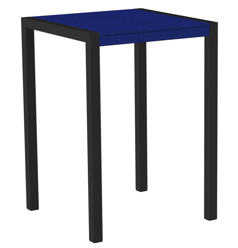 "8002-12PB MOD 30"" Bar Table in Textured Black & Pacific Blue"