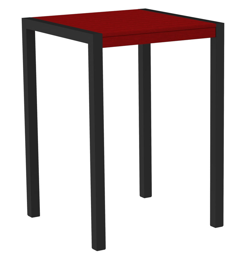 "8002-12SR MOD 30"" Bar Table in Textured Black & Sunset Red"