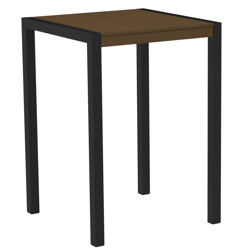 "8002-12TE MOD 30"" Bar Table in Textured Black & Teak"