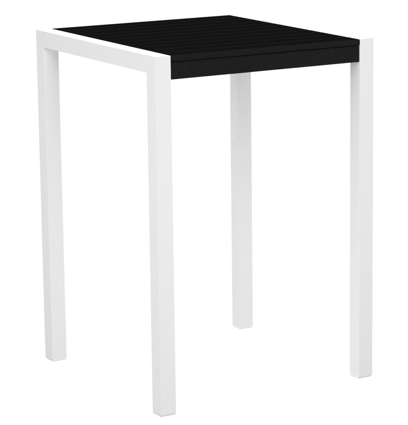 "8002-13BL MOD 30"" Bar Table in Satin White & Black"