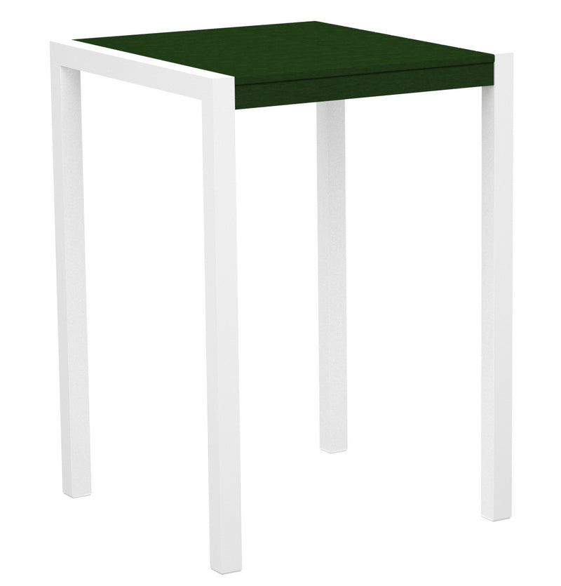 "8002-13GR MOD 30"" Bar Table in Satin White & Green"