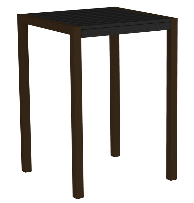 "8002-16BL MOD 30"" Bar Table in Textured Bronze & Black"