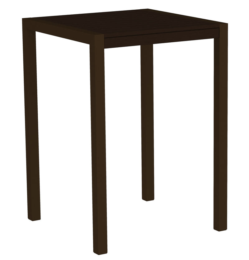 "8002-16MA MOD 30"" Bar Table in Textured Bronze & Mahogany"