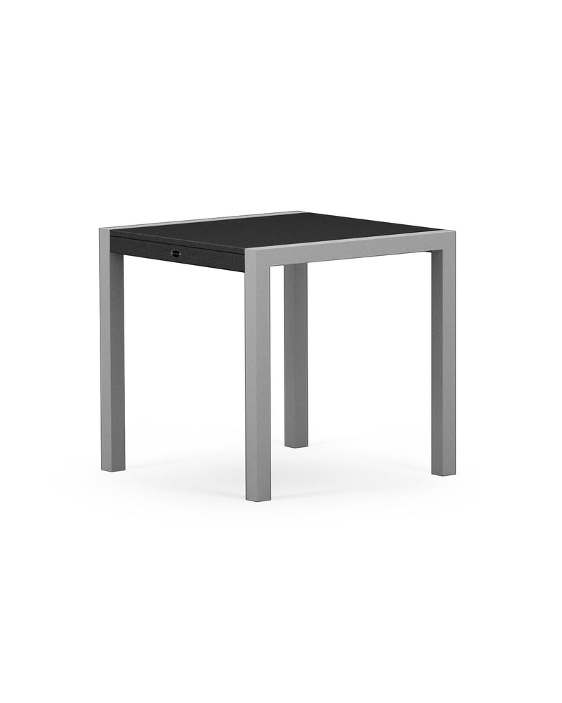 "8020-11MBL MOD SOLID 30"" Dining Table in Textured Silver & Black"