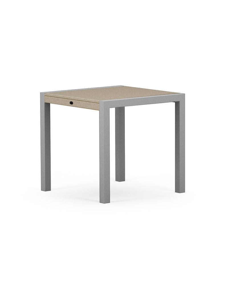 "8020-11MSA MOD SOLID 30"" Dining Table in Textured Silver & Sand"