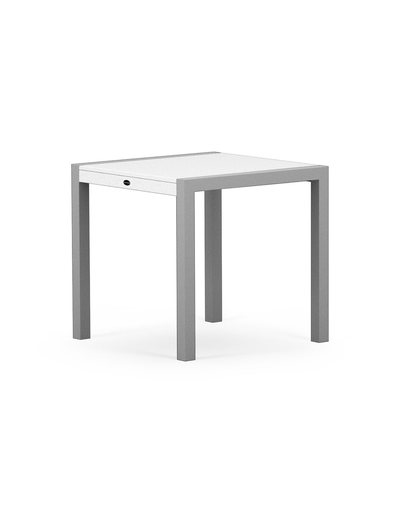 "8020-11MWH MOD SOLID 30"" Dining Table in Textured Silver & White"