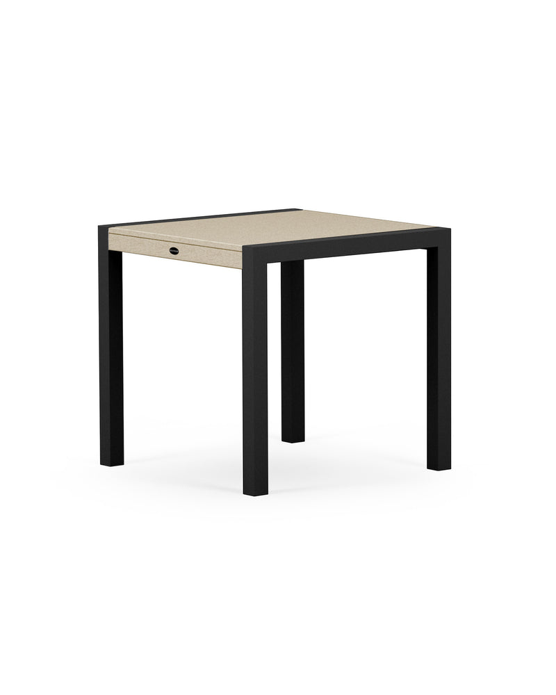 "8020-12MSA MOD SOLID 30"" Dining Table in Textured Black & Sand"