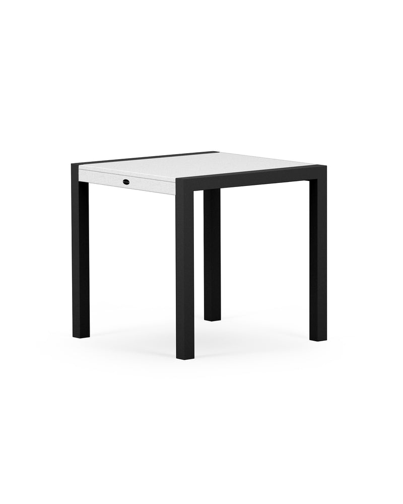"8020-12MWH MOD SOLID 30"" Dining Table in Textured Black & White"