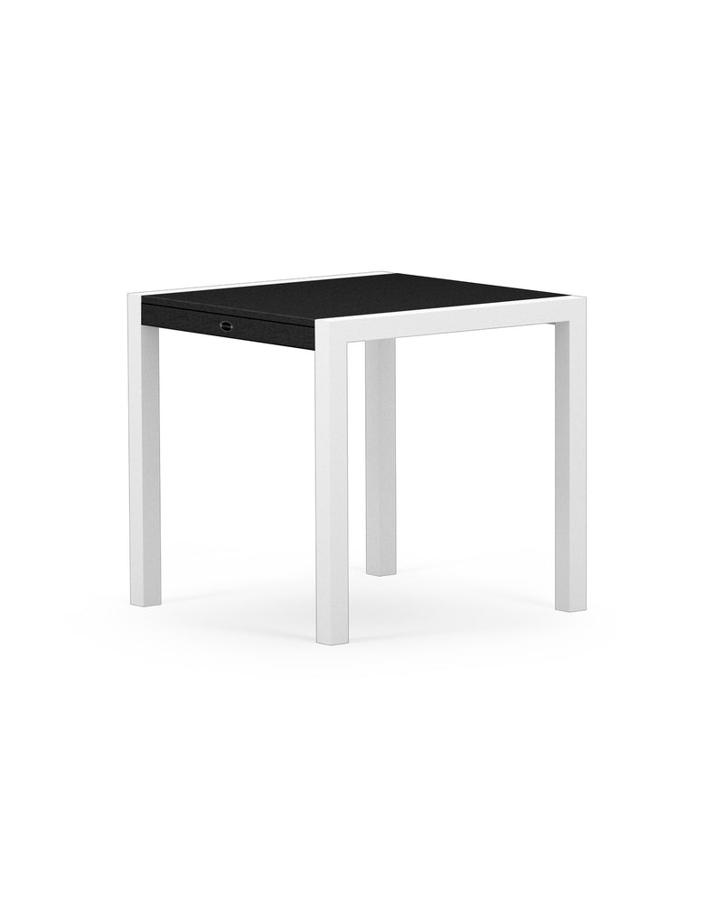 "8020-13MBL MOD SOLID 30"" Dining Table in Satin White & Black"