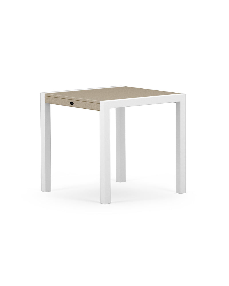 "8020-13MSA MOD SOLID 30"" Dining Table in Satin White & Sand"