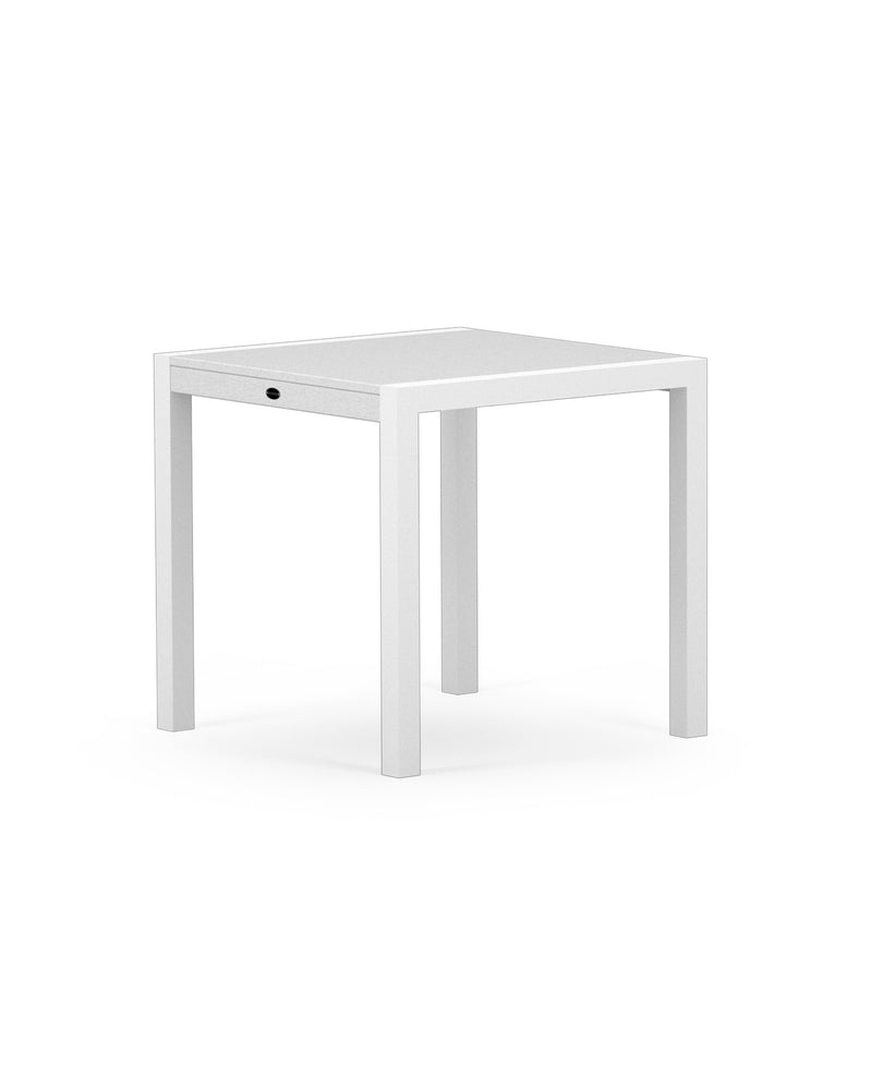"8020-13MWH MOD SOLID 30"" Dining Table in Satin White & White"