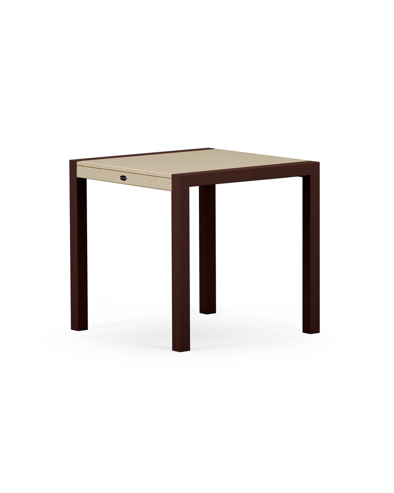 "8020-16MSA MOD SOLID 30"" Dining Table in Textured Bronze & Sand"