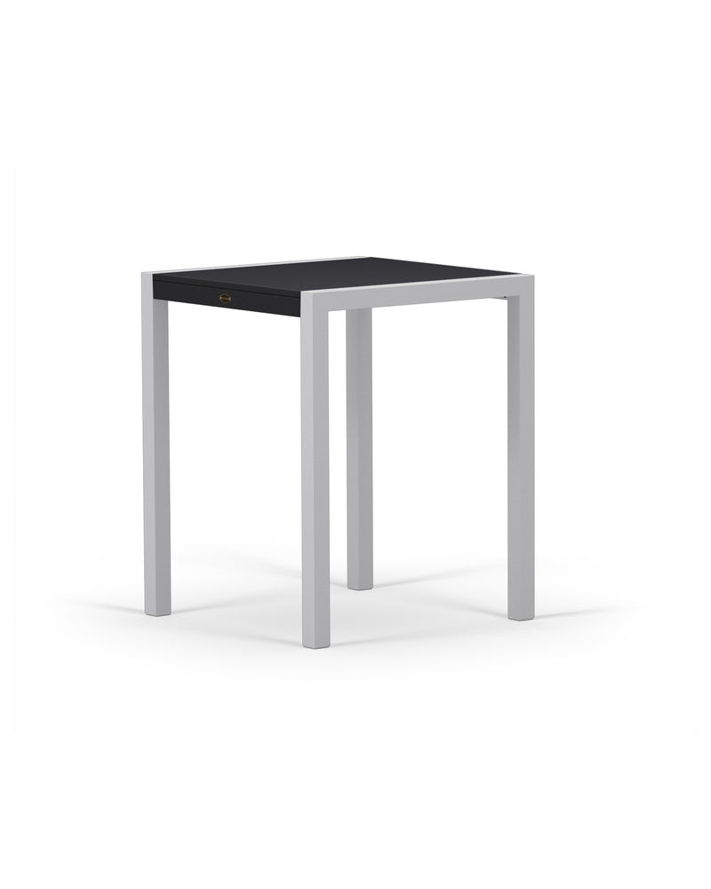 "8021-11MBL MOD SOLID 30"" Counter Table in Textured Silver & Black"