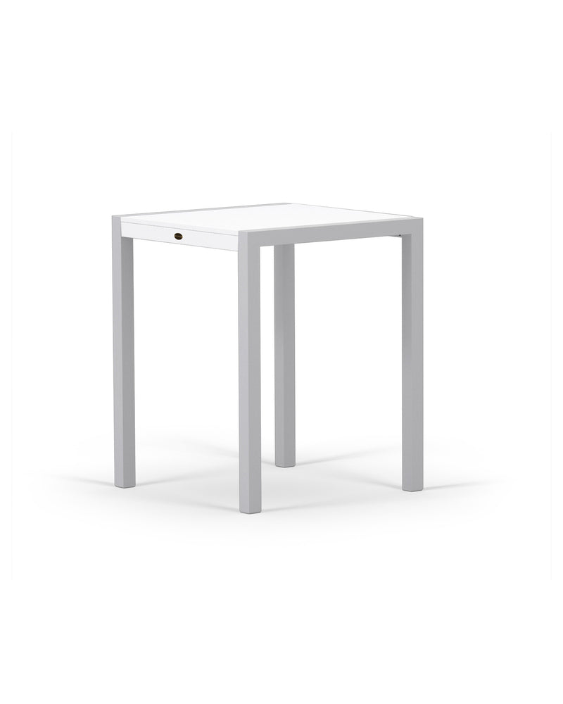 "8021-11MWH MOD SOLID 30"" Counter Table in Textured Silver & White"