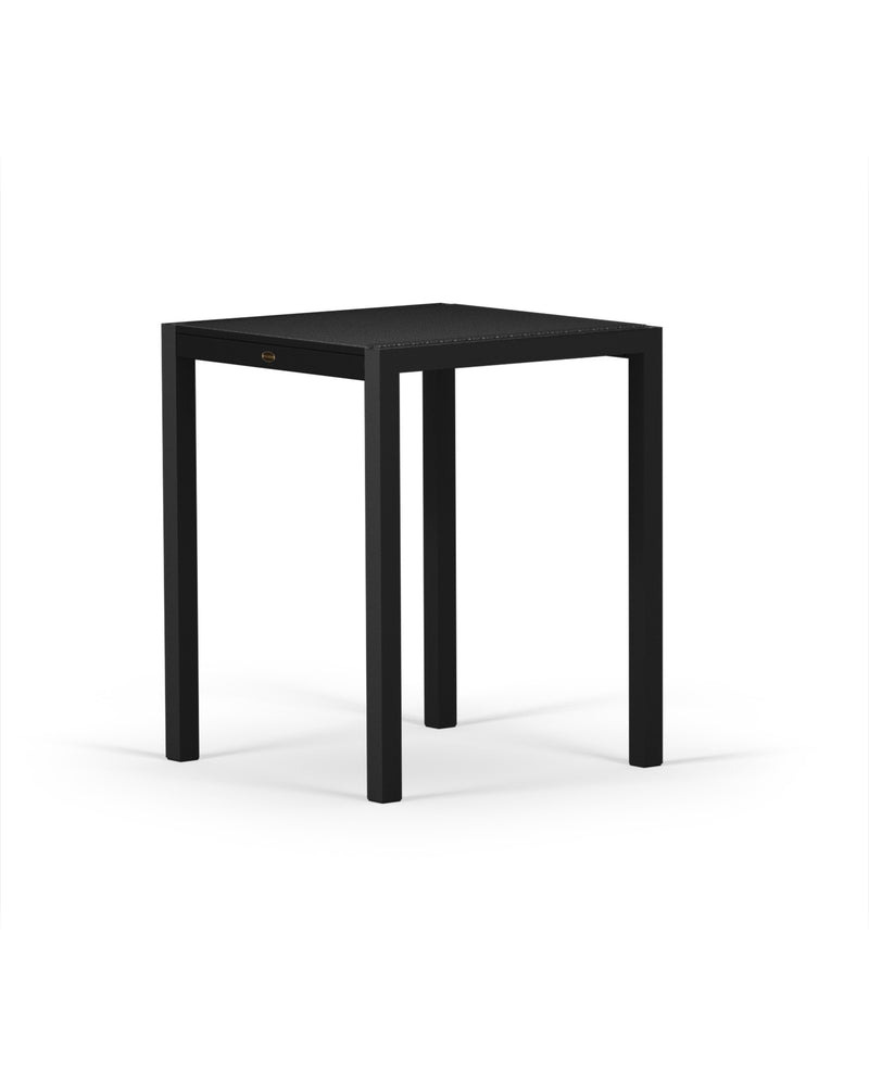"8021-12MBL MOD SOLID 30"" Counter Table in Textured Black & Black"